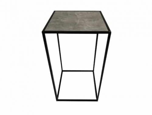 Staal® Bartable Black incl. Marmer grey top