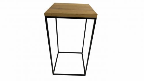 Staal® Bartable Black incl. Oak massive top