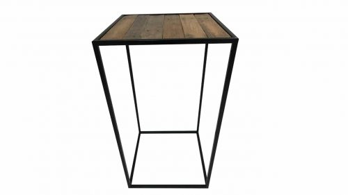 Staal® Bartable Black incl. Scrap Wood top