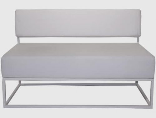 Staal® Lounge bench White incl. White seating