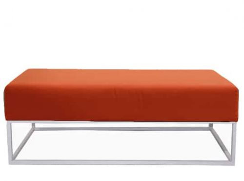 Staal® Lounge big White incl. Orange seating