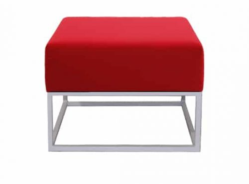 Staal® Lounge small White incl. Red seating