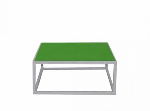 Colors® Staal Sidetable Small White incl. Green top