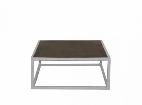 Staal® Sidetable small White incl. Marmer  Garbon top