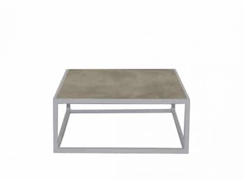 Staal® Sidetable small White incl. Marmer Light top