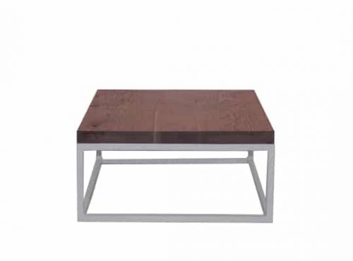 Staal® Sidetable small White incl. Oak Massive top