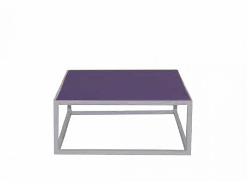 Colors® Staal Sidetable Small White incl. Purple top