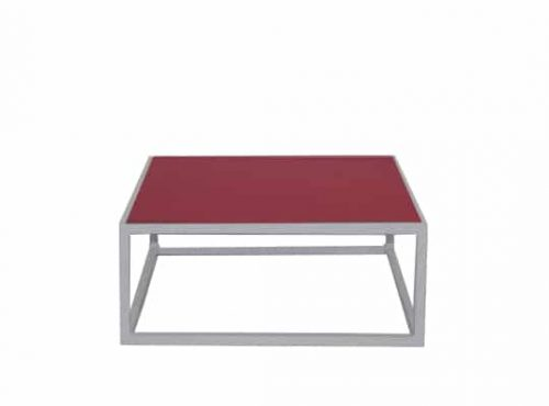 Colors® Staal Sidetable Small White incl. Red top