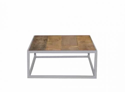 Staal® Sidetable small White incl. Scrap Wood top