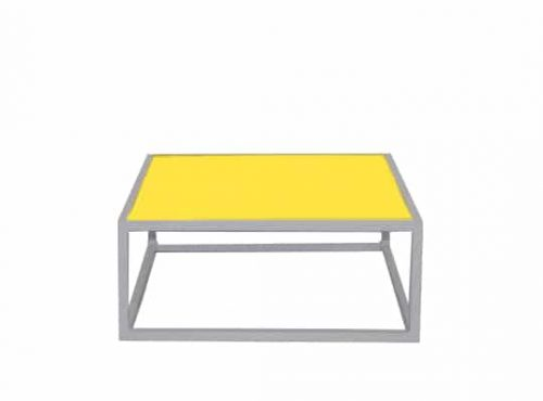 Colors® Staal Sidetable Small White incl. Yellow top